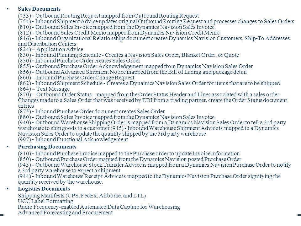 Info architektúrák I. Dobay Péter, PTE KTK 29/50 Sales Documents (753) - Outbound Routing Request mapped from Outbound Routing Request (754) - Inbound