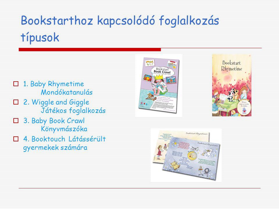 Bookstarthoz kapcsolódó foglalkozás típusok  1. Baby Rhymetime Mondókatanulás  2.
