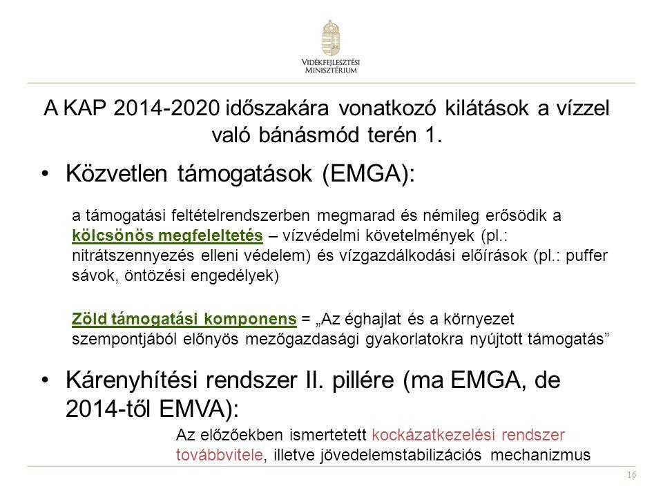 16 A KAP 2014-2020 időszakára vonatkozó kilátások a vízzel való bánásmód terén 1.