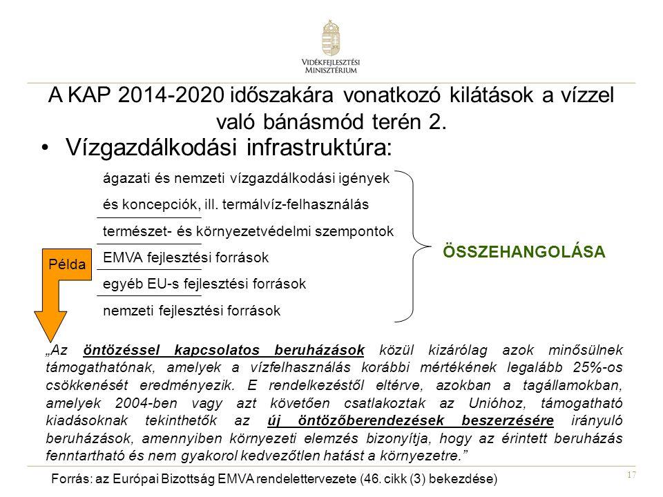 17 A KAP 2014-2020 időszakára vonatkozó kilátások a vízzel való bánásmód terén 2.