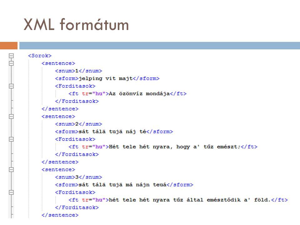 XML formátum