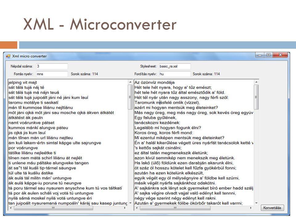 XML - Microconverter