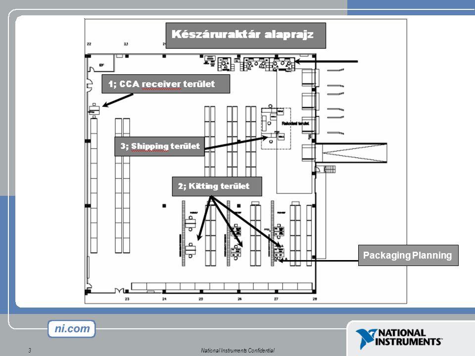 """National Instruments Confidential4 Erőforrások EszközEszköz 16 munkaállomás PC-vel, szkennerel, nyomtatóval Statikus, állványos tárolási rendszer (""""raklapos, ill."""