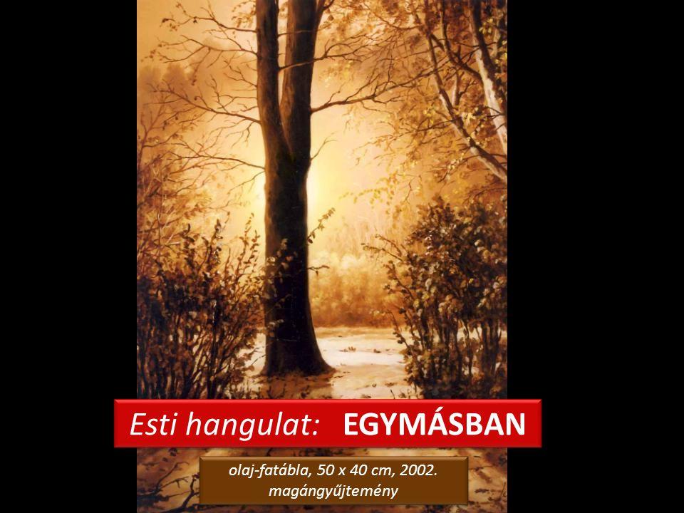 ARANYLÓ HÓ – Téli est a parkban olaj-fatábla, 26,5 x 43,5 cm, 2002. Levy Műterem-Galéria, Siófok olaj-fatábla, 26,5 x 43,5 cm, 2002. Levy Műterem-Galé