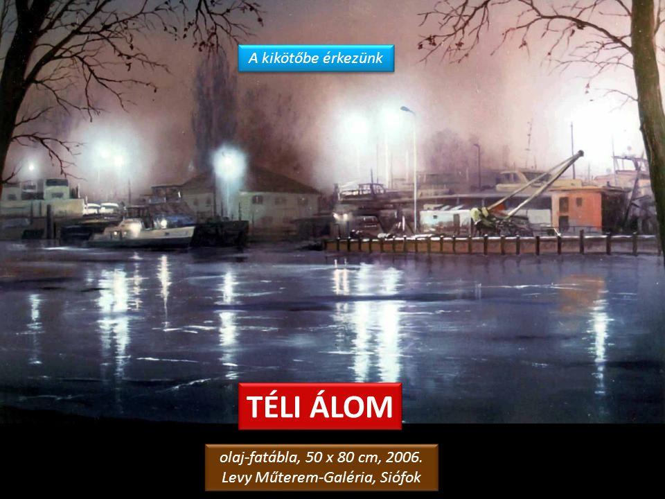 TÉLI ALKONY A FÁK KÖZÖTT olaj-farostlemez, 50 x 70 cm, 2006. magángyűjtemény, Siófok olaj-farostlemez, 50 x 70 cm, 2006. magángyűjtemény, Siófok A Ker