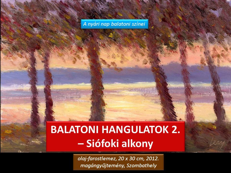 BALATON olaj-farostlemez, 40 x 50 cm, 2008. magángyűjtemény, Budapest olaj-farostlemez, 40 x 50 cm, 2008. magángyűjtemény, Budapest
