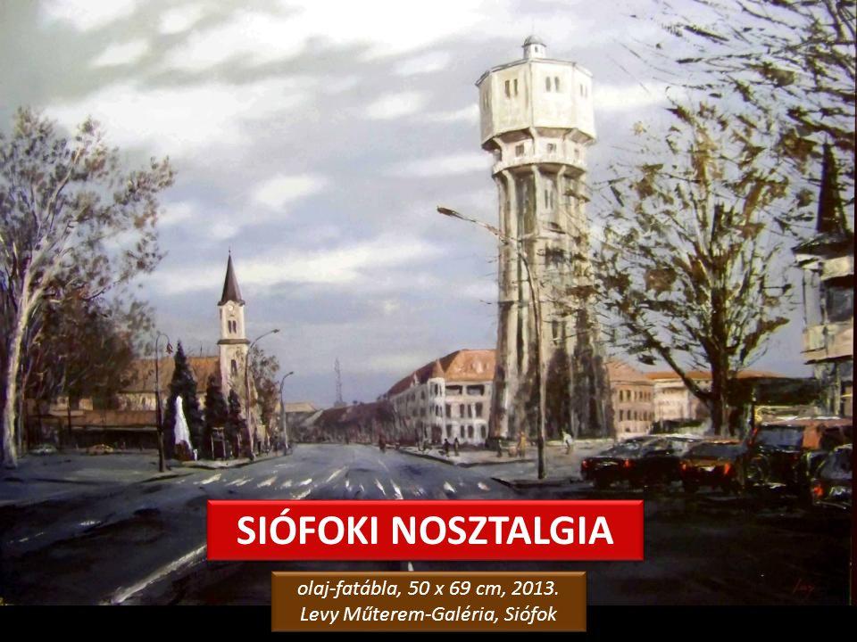 SIÓFOKI NOSZTALGIA olaj-fatábla, 50 x 69 cm, 2013.