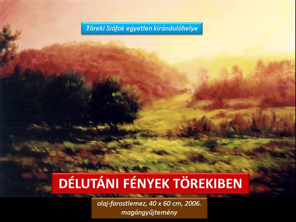 ÚT A FÁK KÖZÖTT olaj-farostlemez, 50 x 70 cm, 1993. Hotel Janus, Siófok olaj-farostlemez, 50 x 70 cm, 1993. Hotel Janus, Siófok