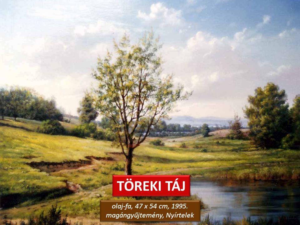 TÁJ TÖREKIBEN olaj-farostlemez, 30 x 40 cm, 2010. magángyűjtemény olaj-farostlemez, 30 x 40 cm, 2010. magángyűjtemény