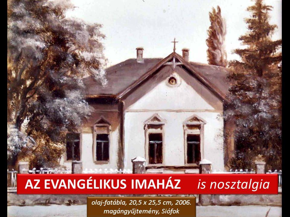 TÉLI ALKONY A FÁK KÖZÖTT olaj-farostlemez, 50 x 70 cm, 2006.