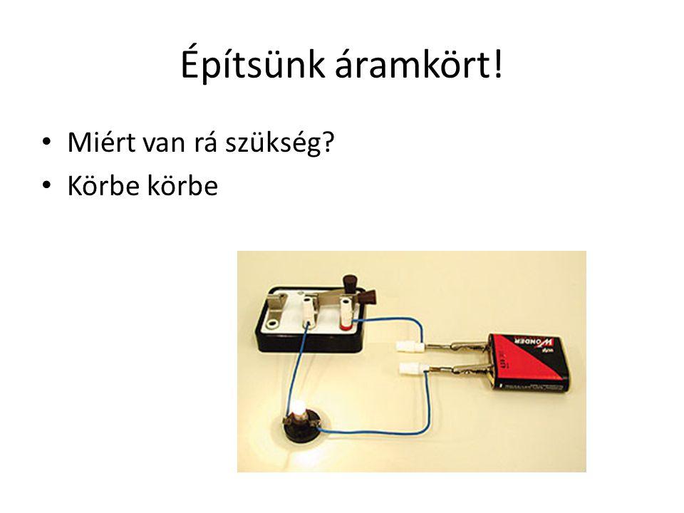 Építsünk áramkört! Miért van rá szükség? Körbe körbe