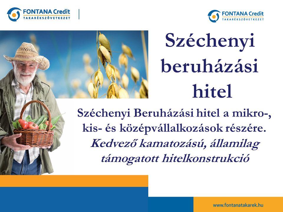 Széchenyi Beruházási hitel a mikro-, kis- és középvállalkozások részére.