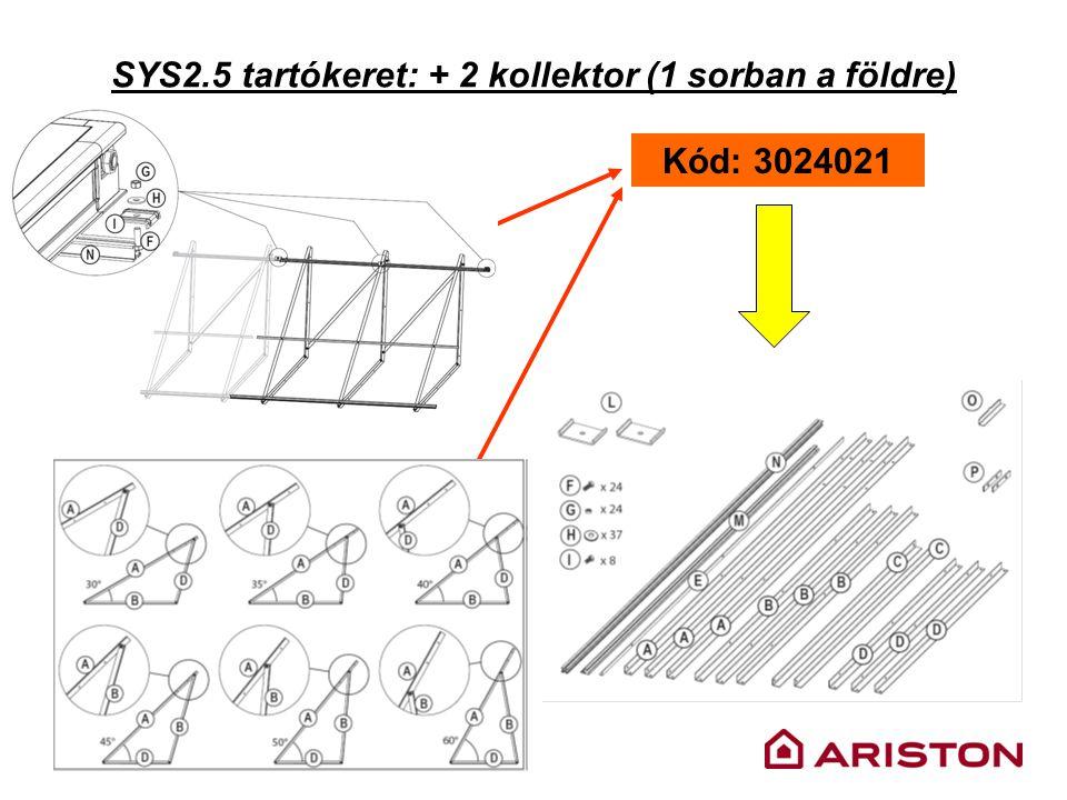 SYS2.5 tartókeret: + 2 kollektor (1 sorban a földre) Kód: 3024021