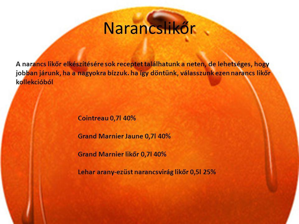 Narancslikőr A narancs likőr elkészítésére sok receptet találhatunk a neten, de lehetséges, hogy jobban járunk, ha a nagyokra bízzuk. ha így döntünk,