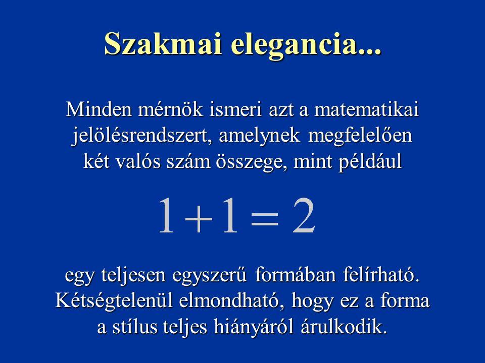 Minden mérnök ismeri azt a matematikai jelölésrendszert, amelynek megfelelően két valós szám összege, mint például egy teljesen egyszerű formában felírható.
