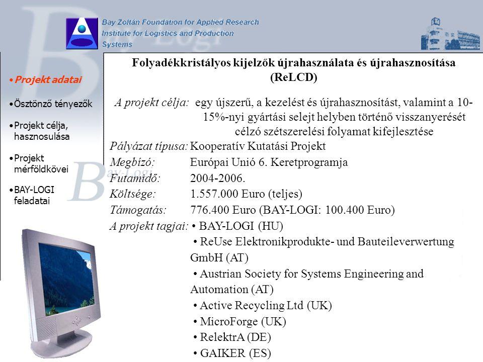 Gazdasági ösztönzés - az LCD termékek 2002.