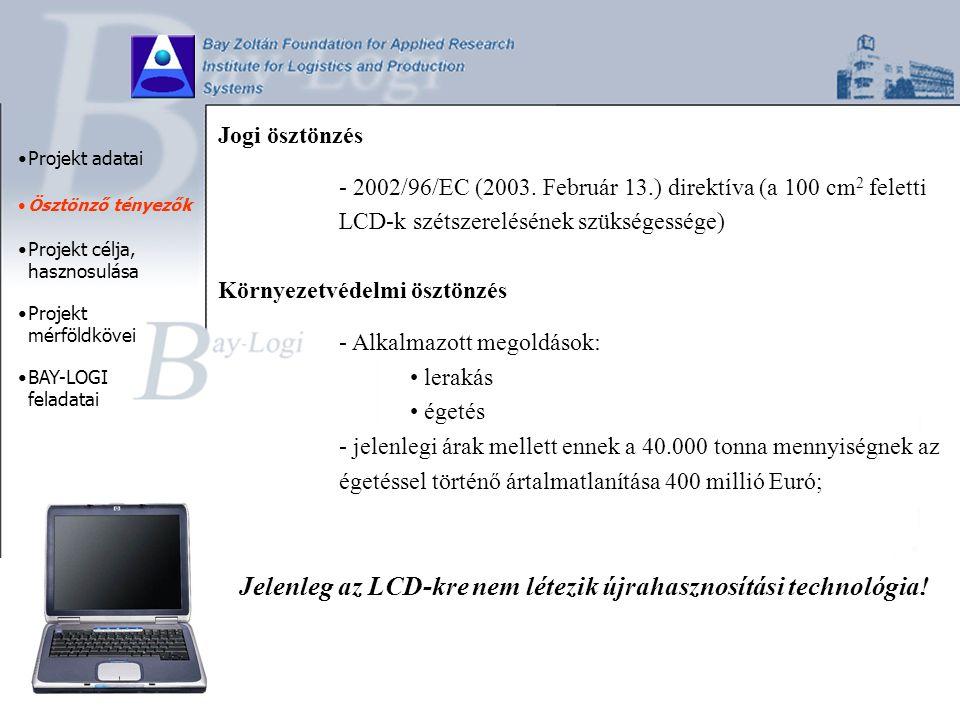 Jogi ösztönzés - 2002/96/EC (2003.