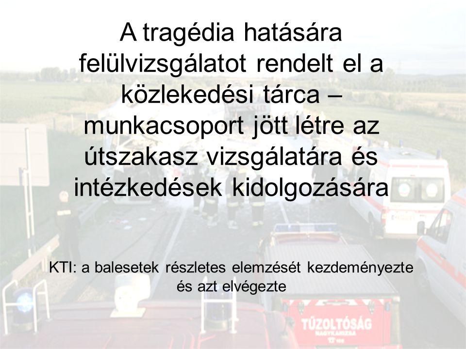 A tragédia hatására felülvizsgálatot rendelt el a közlekedési tárca – munkacsoport jött létre az útszakasz vizsgálatára és intézkedések kidolgozására