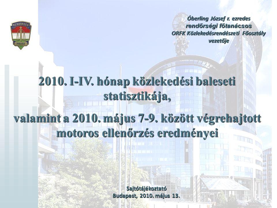 12 Mkp.és smkp. vezetőkkel kapcsolatos előzetes baleseti statisztikai adatok 2010.