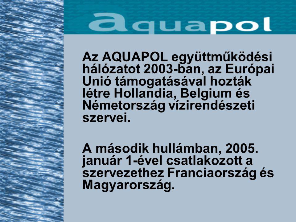 Az AQUAPOL együttműködési hálózatot 2003-ban, az Európai Unió támogatásával hozták létre Hollandia, Belgium és Németország vízirendészeti szervei.