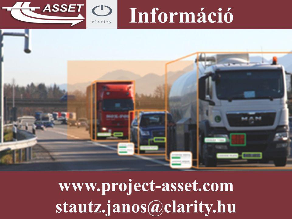 www.project-asset.com stautz.janos@clarity.hu Információ