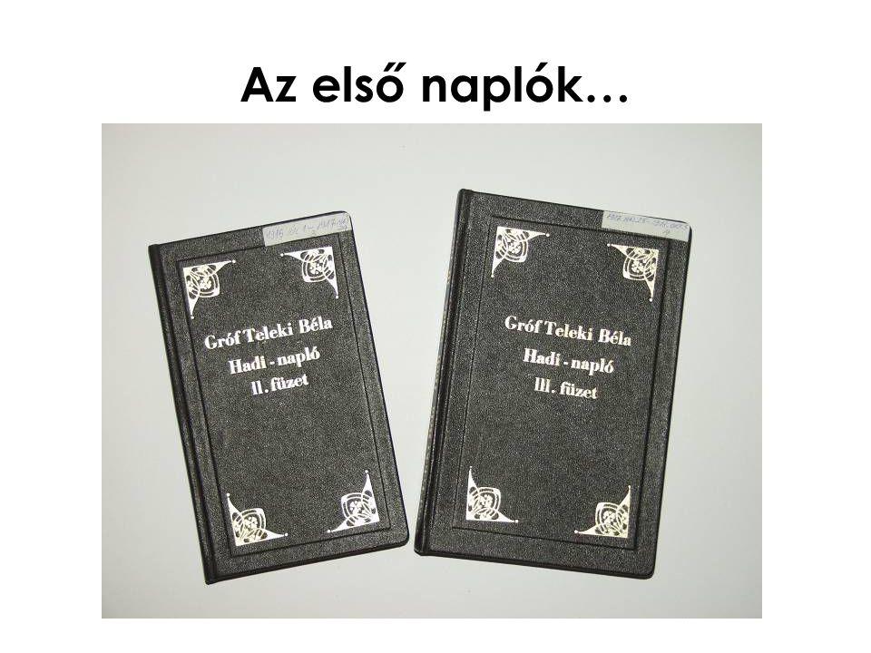Az első naplók…