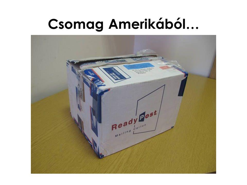Csomag Amerikából…