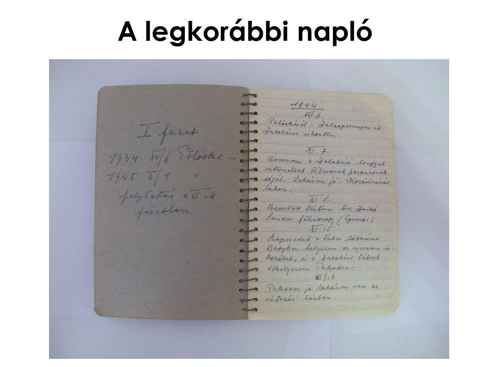 A legkorábbi napló