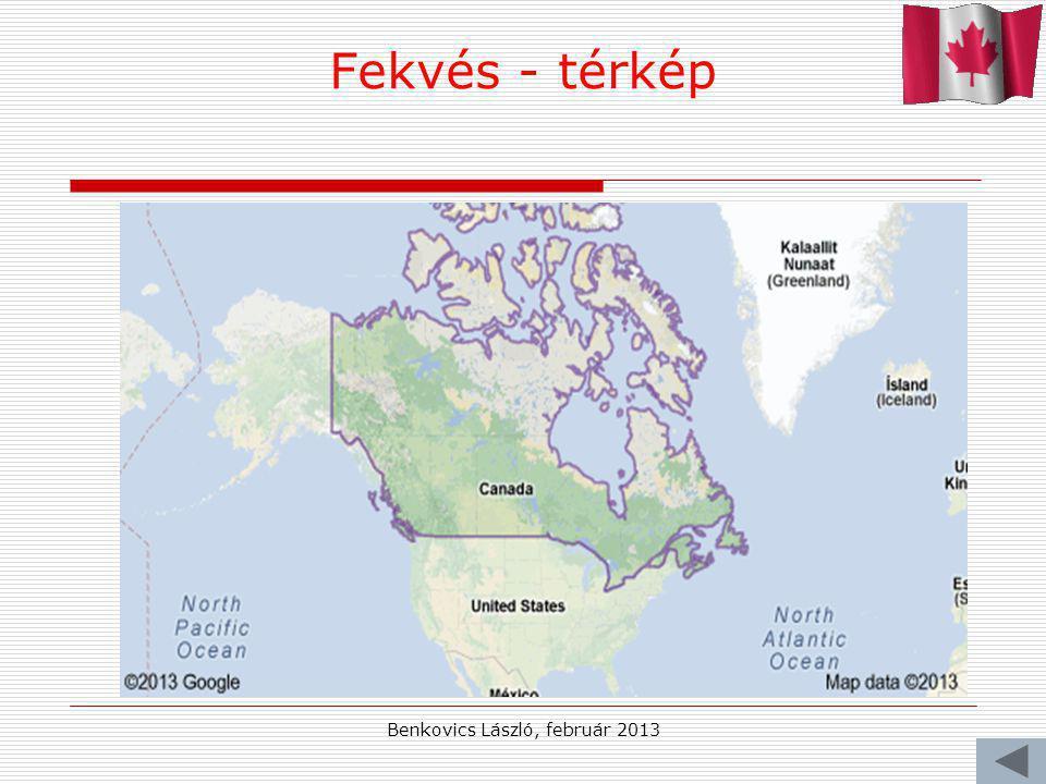 Benkovics László, február 2013 Fekvés - térkép