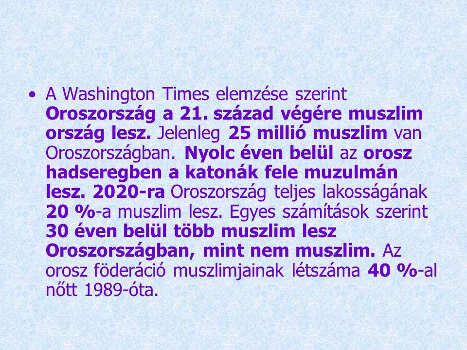 A Washington Times elemzése szerint Oroszország a 21.