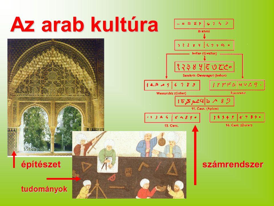 Az arab kultúra építészet tudományok számrendszer