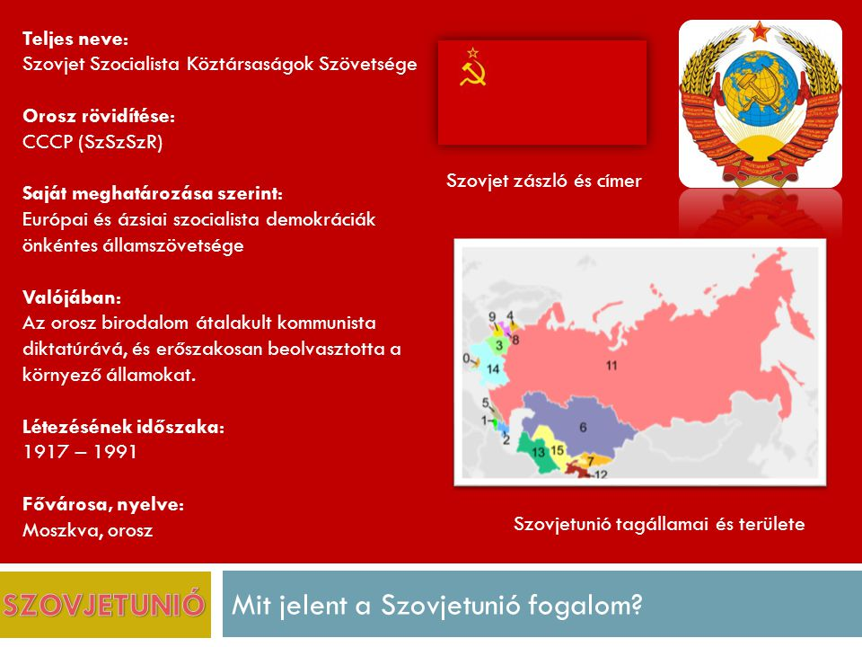Mit jelent a Szovjetunió fogalom.