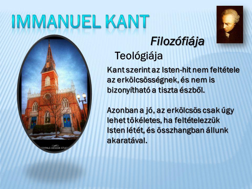 Kant szerint az Isten-hit nem feltétele az erkölcsösségnek, és nem is bizonyítható a tiszta észből.