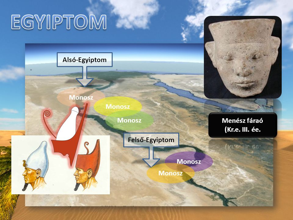 Korai dinasztiák Óbirodalom Középbirodalom Újbirodalom Makedón (görög) uralom Római uralom Keleti hódítók Kr.e.