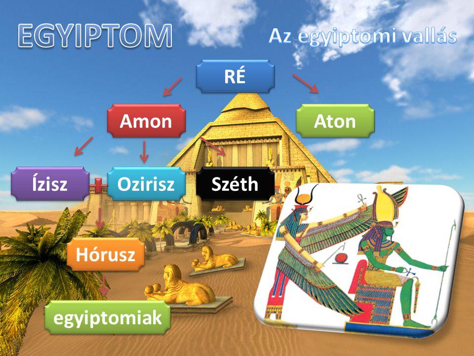 RÉ Amon Aton Ozirisz Széth Ízisz Hórusz egyiptomiak
