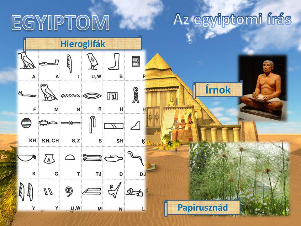 EGYIPTOM Egyiptom a Nílus folyó mentén jött létre.