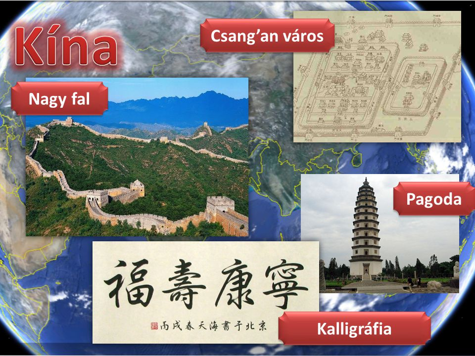 Nagy fal Csang'an város Pagoda Kalligráfia