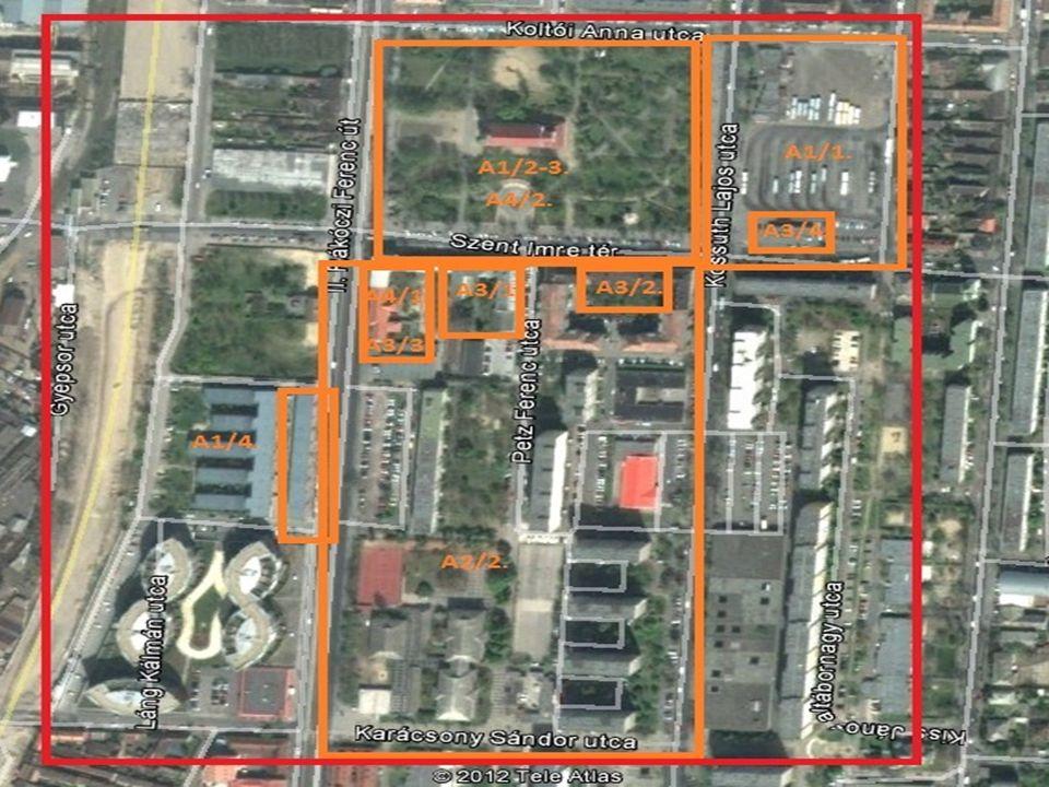 Felújított közösségi téren, kamerarendszer kialakítása Közvilágítás korszerűsítése Panelházak közötti zöldfelület megújítása Közterülethez kapcsolódó homlokzatok rehabilitációja BKK ügyfélpont kialakítása (pavilonos megoldással) Munkaerő piaci képzés Szabadtéri közösségi akciók Kis-Duna parton rekortán futópálya kialakítása BKK buszpályaudvar és kiszolgáló épület megújítása
