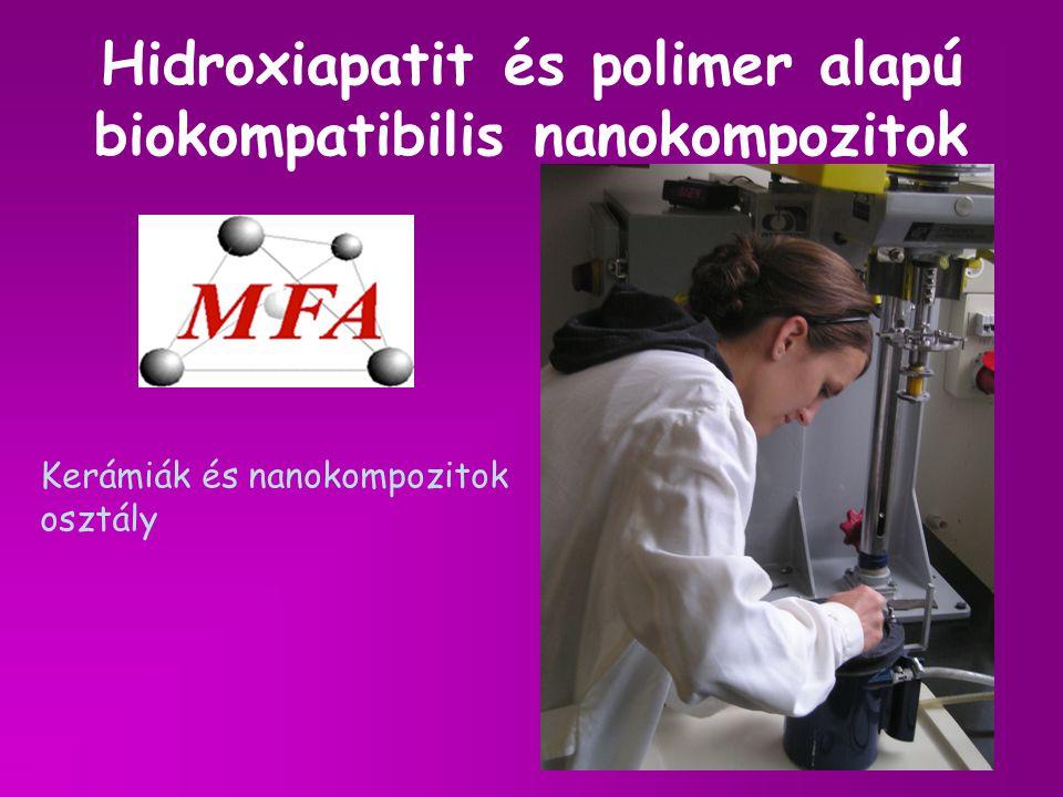 Hidroxiapatit és polimer alapú biokompatibilis nanokompozitok Kerámiák és nanokompozitok osztály