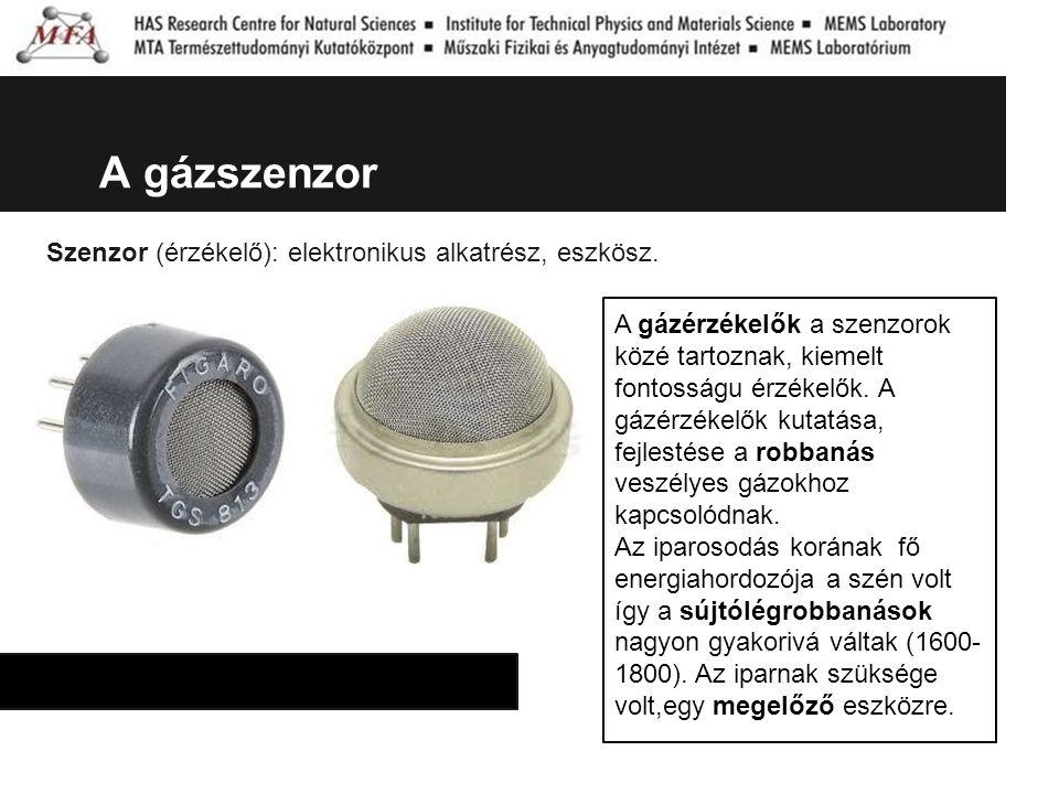 A gázszenzor Szenzor (érzékelő): elektronikus alkatrész, eszkösz. A gázérzékelők a szenzorok közé tartoznak, kiemelt fontosságu érzékelők. A gázérzéke