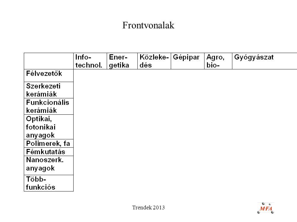 Trendek 2013 Frontvonalak