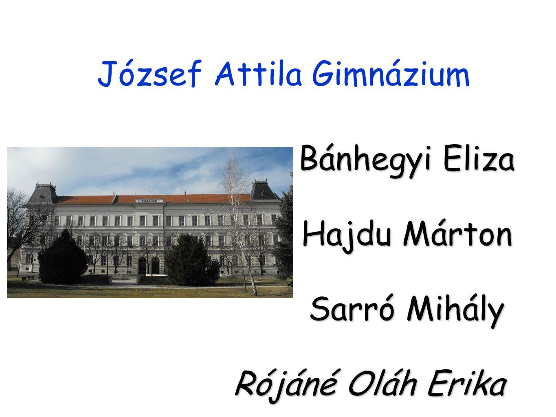 József Attila Gimnázium Bánhegyi Eliza Hajdu Márton Sarró Mihály Rójáné Oláh Erika