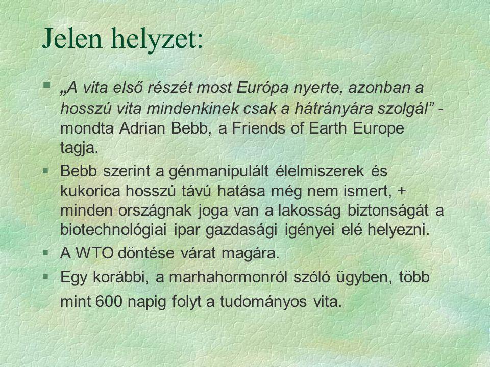 """Jelen helyzet: §"""" A vita első részét most Európa nyerte, azonban a hosszú vita mindenkinek csak a hátrányára szolgál"""" - mondta Adrian Bebb, a Friends"""