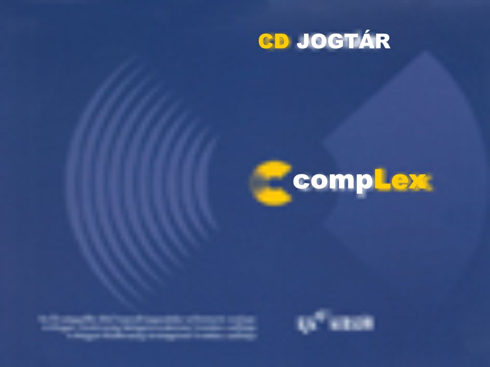 CD JOGTÁR compLex