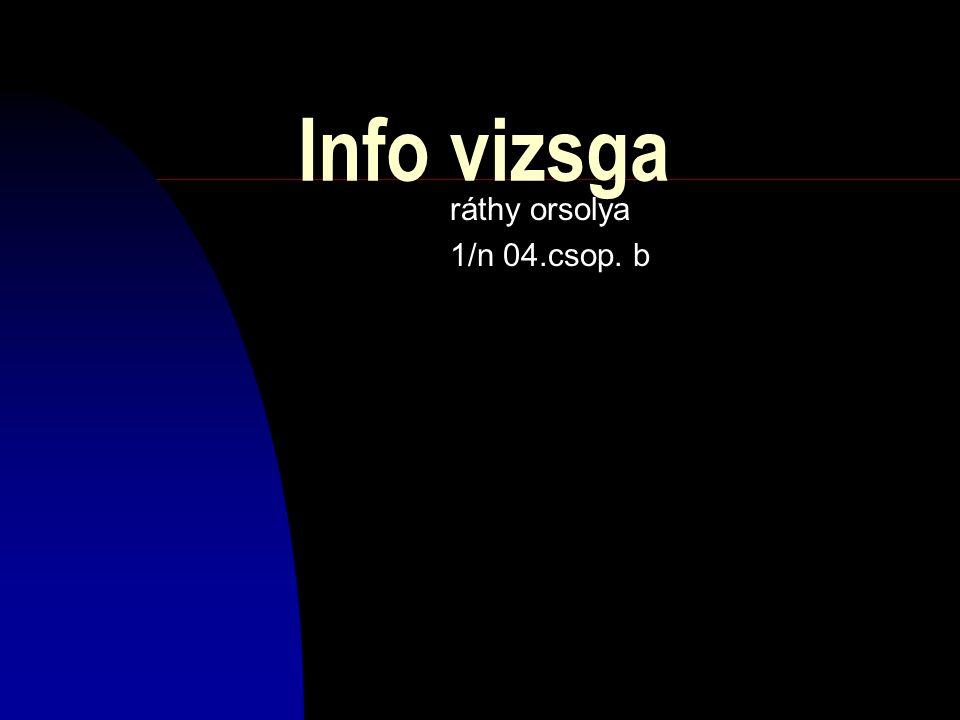 Info vizsga ráthy orsolya 1/n 04.csop. b