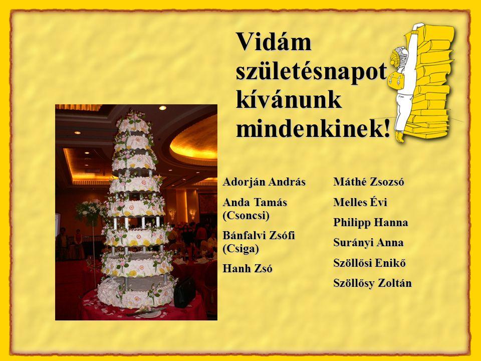 Vidám születésnapot kívánunk mindenkinek.
