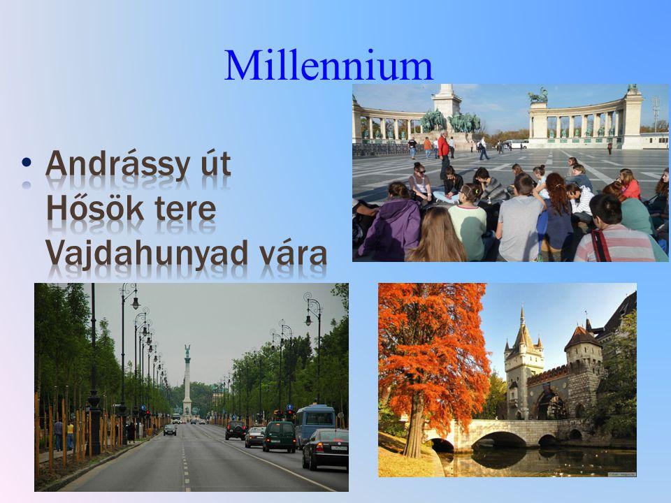A millennium latin elnevezés, jelentése magyarul: ezredév, évezred, ezeréves évforduló.