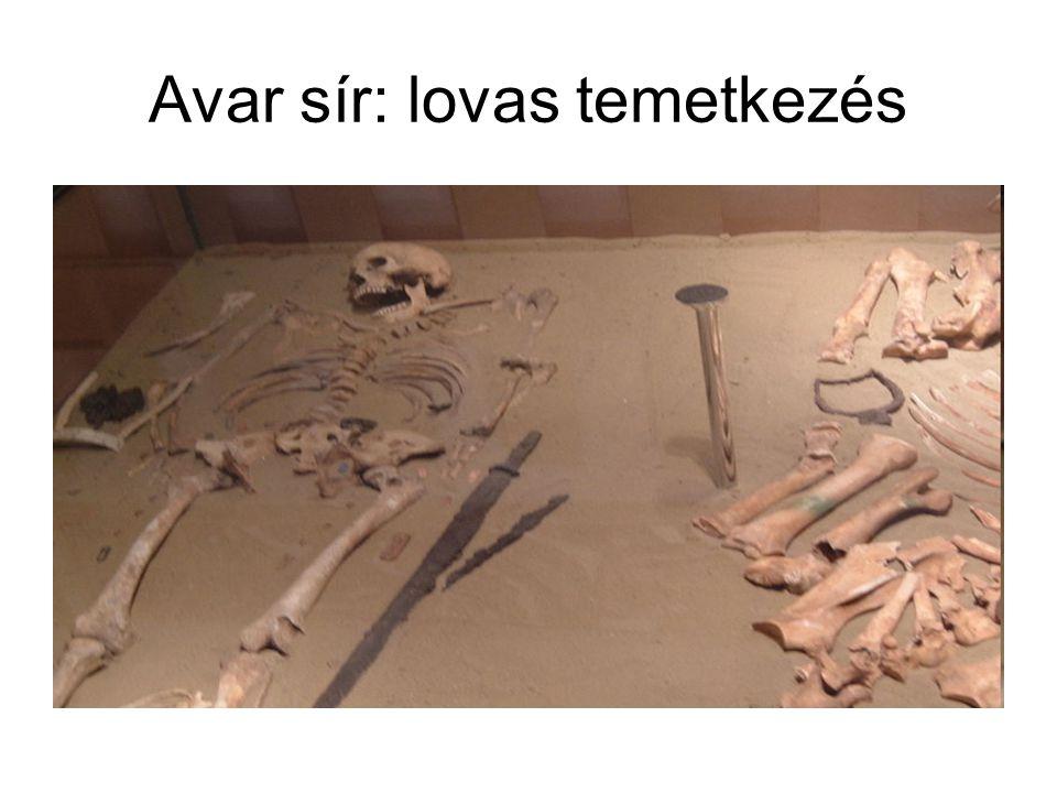 Avar sír: lovas temetkezés