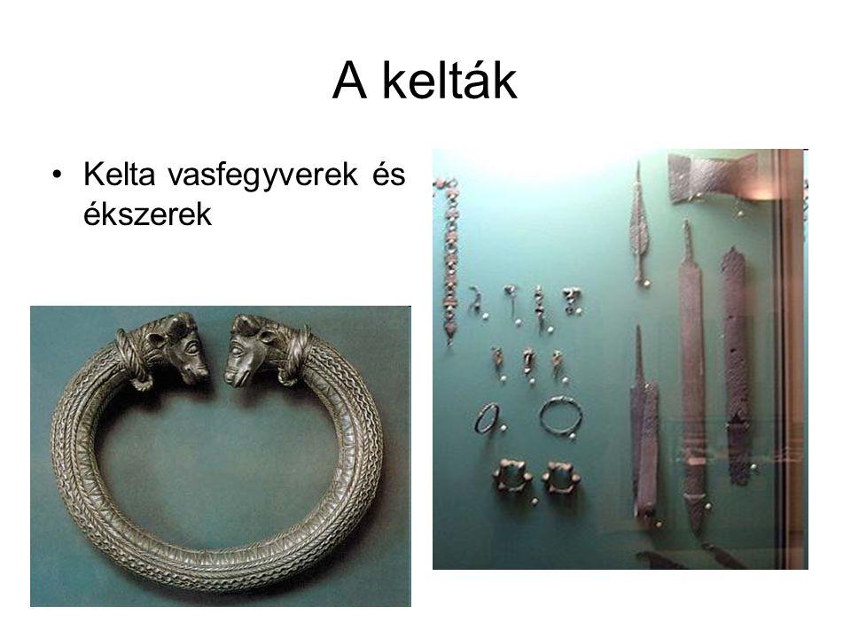 A kelták Kelta vasfegyverek és ékszerek