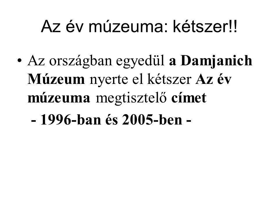 A Damjanich Múzeum állandó kiállításai Melyik cím jelöli a régészeti, a képzőművészeti, a néprajzi és a történeti kiállítást.